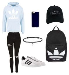 """Untitled #2"" by madi-falk on Polyvore featuring adidas Originals, Nasaseasons, Casetify, adidas, BERRICLE and Topshop"