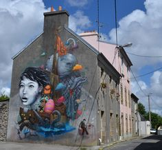Street art | Mural (The Crimes of Minds Project, Brest, France) by Liliwenn and BomK