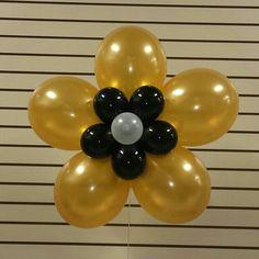 Balloon flower black gold white