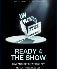 CNET's live coverage of Samsung's Galaxy S4 event is starting! Join us! http://cnet.co/ZrpaFy