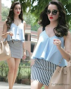 Indian Celebrities, Bollywood Celebrities, Bollywood Fashion, Bollywood Style, Beautiful Bollywood Actress, Beautiful Indian Actress, Shraddha Kapoor Cute, Girl Fashion, Fashion Outfits