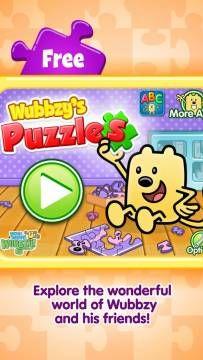 New FREE app feat. Wubbzy! Wubbzy's Puzzles for iPhone & iPad #kids