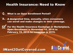 Insurance TALK TUESDAY > What's an Open Enrollment Period? Learn how you can #GetCovered ~ call me at 336.355.1700 #ACA #healthcare