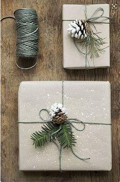 DIY pacchetti di Natale erbe e spezie