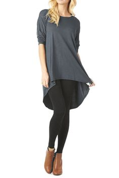 A beautiful high and low tunic with 3/4 sleeves which is super comfortable and easy to skin. You will surely love this top which you can pair with whatever outfit you prefer. -95% Rayon 5% Spandex. -Hand or Gentle Machine Wash.   eBay!