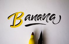 betype:     Brush Pen Doodles by  Carolina Ledezma - Good typography