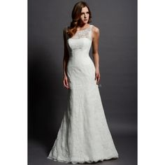 Charming Bateau Sheath/ Column Lace Sleeveless Floor Length Wedding Dresses and other apparel, accessories and trends. Browse and shop 2 related looks.