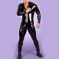 mens vinyl fetish catsuit long body suit