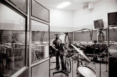 """David Gilmour in Abbey Road, studio 3, 1975. """"Have A Cigar"""" recording session for """"Wish You Were Here"""" album. Photo: Jill Furmanovsky."""