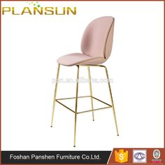 Bar furniture Gubi Beetle high stool with gold stainless steel base