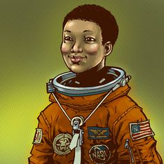 Philip J. Bond is creating an epic series of drawings depicting the women who have traveled to space.  This is Mae Jemison. jemison by philipjbond, via Flickr