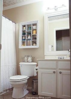 DIY: Bathroom Makeover Ideas on a Budget - great post shows how to update your…