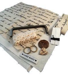 Roseliini: Tarvikepaketti, pikkukassi, tee se itse, DIY, sisältää materiaalin kassin tekoon