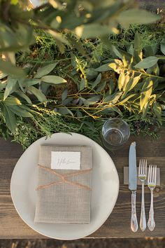 Elegant Neutral Place Setting with Metallic Accents  | Carlie Statsky Photography | Earthy and Organic Wedding Shoot in Soft Neutrals and Copper