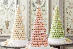 Wedding Desserts That Wow | The croquembouche, a conical tower of profiteroles, is a traditional dessert at French weddings.