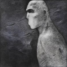 Rameshwar Broota Face 1993 x 63 cm) oil on canvas, scraped with blade. Indian Artist, Modern Contemporary, Oil On Canvas, Statue, Face, Artists, The Face, Faces, Sculptures