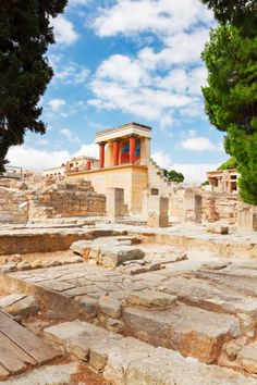 Minoan Palace at Knossos, Greece