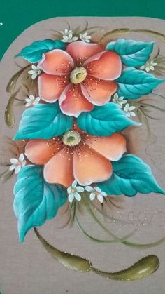Un trabajo muy hermoso China Painting, Tole Painting, Fabric Painting, Painted Rocks, Hand Painted, Saree Painting, Fabric Paint Designs, Love Wallpaper, Painting Patterns