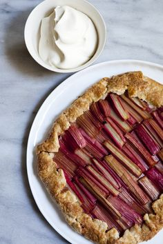 Making this rhubarb galette to celebrate spring.