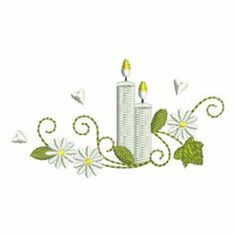 Christening Candles embroidery design