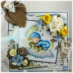Cradled by the Moon [C1110] - $8.50 : Whimsy Stamps