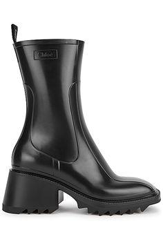 Shop High Heeled Rubber Rain Boots UK