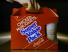 1985 McDonald's Chicken McNuggets Super Value Pack (commercial screencap)   Flickr - Photo Sharing!
