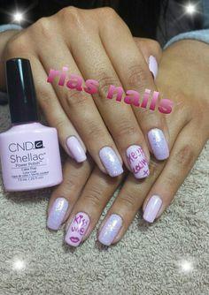 pink nails!!! Keep calm and kiss me!!!;-) CND Shellac