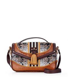 Brown & White Too Cool for School Tweed Crossbody #henribendel