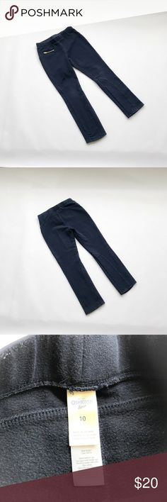 Osh Kosh Navy Riding Style skinny pants So different! Navy blue, elastic waist, zipper on right hip that works but pocket is tiny. Quilted inset on inner lower half of each leg. Fit like leggings but heavier material. Some fading, no stains. Smoke and pet free home Osh Kosh Bottoms Leggings