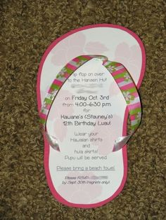 Cute and easy flip flop invitations for beach themed party beach-party