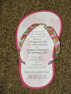 Luau Party Invitations! Cutest invites ever!!!