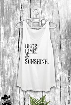 Beer Lime and Sunshine Bachelorette Party Tank by TacosAndTequila
