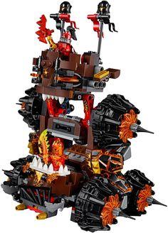Stijg boven tegenstanders uit met de monsterlijke belegeringsmachine! Zaai verderf met Generaal Magmars 2-in-1 belegeringsmachine inclusief 2 Globlin-schietende katapulten, een schijvenschieter en een zweefpaard. Inclusief 3 minifiguren. Bekijk alle coole nexo knigths sets op https://www.olgo.nl/lego.html