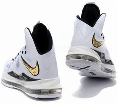 new product c0718 2a893 Nike Lebron 10 White Black Gold1 Air Max 90, Nike Air Max, White Nikes