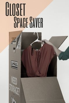 Take your fall wardrobe out and put your summer clothes in this wardrobe box.  You can put it up in a closet or in a garage and save the hanger space.  Great use for small space living! Buy yours here | Falling for Fall Closet Space Savers, Small Closet Space, Small Closets, Small Space Living, Moving Clothes, Packing Clothes, Wardrobe Moving Boxes, Summer Clothes, Summer Outfits