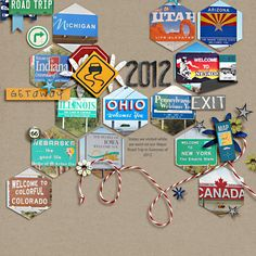 Britt-ish Designs Blog - What a GREAT road trip layout idea!