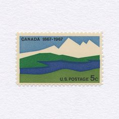 Canada Centennial 1867-1967 (5¢). USA, 1967. Design: Ivan Chermayeff. #mnh #graphilately