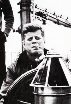 JFK at the helm