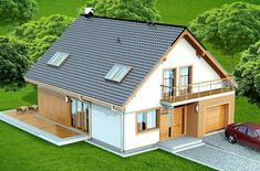 DOM.PL™ - Projekt domu DN DIONA BIS CE - DOM PC1-37 - gotowy koszt budowy Outdoor Structures, How To Plan, Home Plans