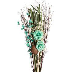Aqua Rose Bouquet | Décor Branches | Dried Fl -- Vyn Flowers