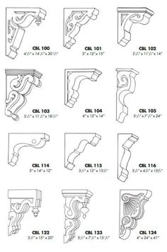 Design your own corbel wood crafts crafts design crafts diy crafts furniture crafts ideas Victorian Architecture, Architecture Details, Wood Projects, Woodworking Projects, Decorative Corbels, Architecture Drawing Art, Architectural Elements, Victorian Homes, Design Your Own