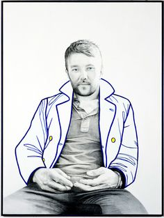 joel edgerton by carla fletcher 2011 Fine Art Drawing, Art Drawings, Joel Edgerton, Bachelor Of Fine Arts, Australian Artists, Black Swan, Design Inspiration, Canvas, Perth