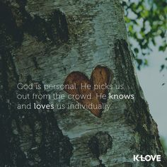 Thats how big My God is <3 to have individual relationship with us.