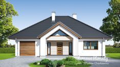Projekt domu Selene VIII 115,60 m² - Domowe Klimaty Home Fashion, Bungalow, House Plans, Garage Doors, Outdoor Structures, Cabin, How To Plan, House Styles, Outdoor Decor