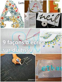 9 façons d'écrire sur du tissu comment écrivez-vous d'habitude sur du tissu ?