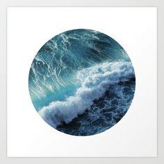Wave 6 Art Print by Smudge Design Co - $17.68