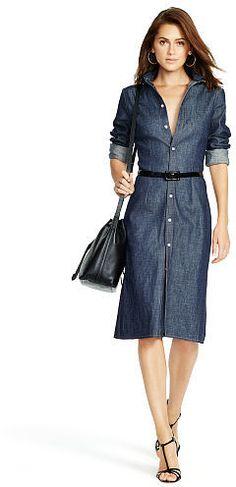Polo Ralph Lauren Denim Button-Down Shirtdress