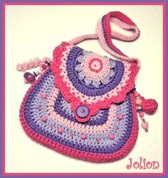 free crochet pattern little girl purse - Recherche Google