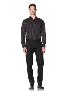 Perry Ellis Striped Sateen Shirt Johnston Murphy, Perry Ellis, Men's Fashion, Normcore, Shirts, Clothes, Shopping, Women, Moda Masculina